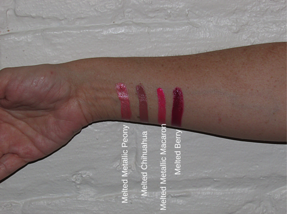 MELTED FRENCH KISSES BY TOO FACED LIPSTICKS Swatches